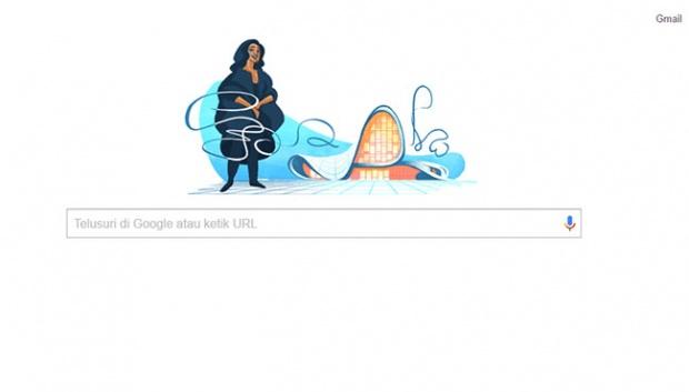 Zaha Mohammad Hadid jadi google doodle hari ini. (Google)