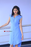 Telugu Actress Mounika UHD Stills in Blue Short Dress at Tik Tak Telugu Movie Audio Launch .COM 0096.JPG