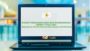 Syarat Pencairan Dana BOS Madrasah Tahap 2 Tahun 2021 (eRKAM dan non eRKAM)