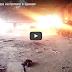 Украинский БТР работает со здания в промзоне Авдеевки (Видео)