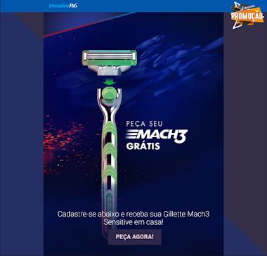 Experimente e receba Gillette Mach3 Sensitive em casa