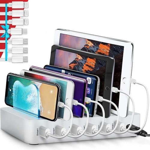 Poweroni PCS6-10 6-Port USB Charging Station Dock