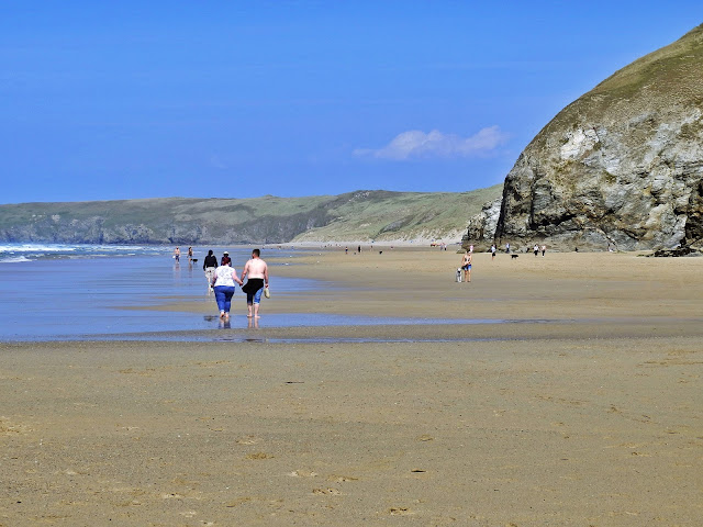Plenty of space on the Beach at Perranporth, Cornwall