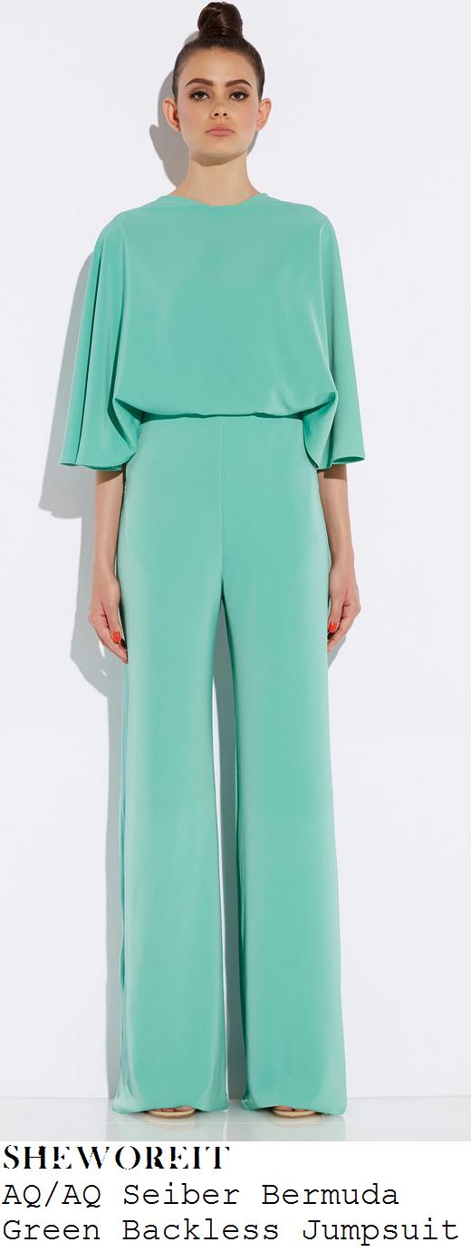 lauren-goodger-sea-foam-mint-green-half-sleeve-wide-leg-backless-jumpsuit-celeb-big-brother-launch