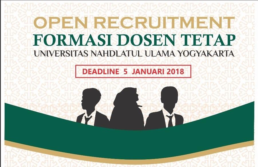 REKRUTMEN 20 Dosen Universitas Nahdlatul Ulama (UNU) Yogyakarta