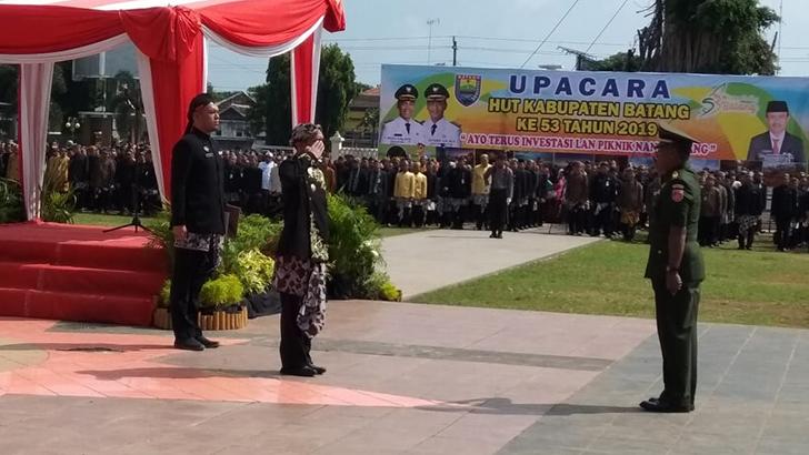 Dandim 0736 Batang Hadiri Upacara Hari jadi Kabupaten Batang Ke 53