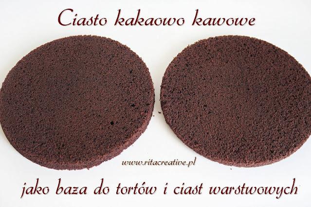 Ciasto kakaowo kawowe jako baza do tortów i ciast warstwowych