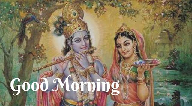 radha krishna good morning images new