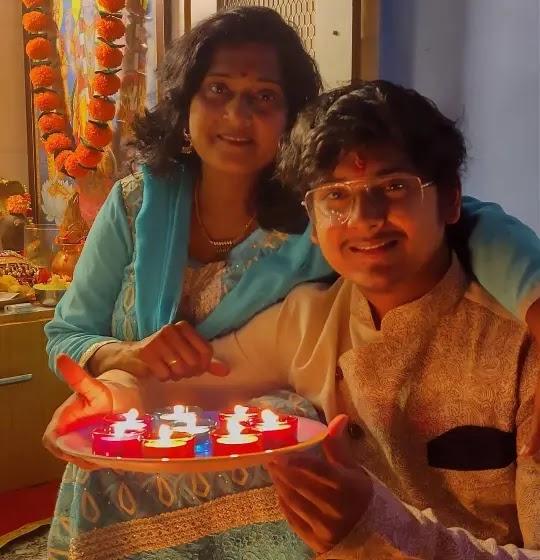 Naman Mathur with his mother Kavita Mathur