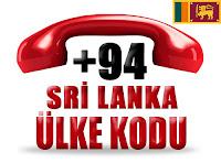 +94 Sri Lanka ülke telefon kodu