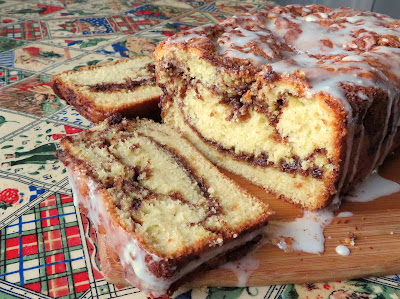 Cinnamon Swirl Tea Bread Updated for Christmas