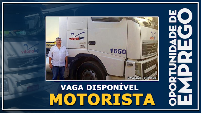 Transportadora Vitoria Log está contratando motorista categoria D