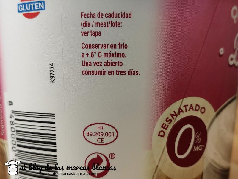 Fabricante del Queso fresco batido desnatado Hacendado (Mercadona) en El Blog de las Marcas Blancas
