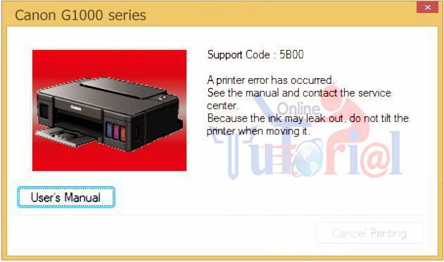 Canon G Series Error 5B00