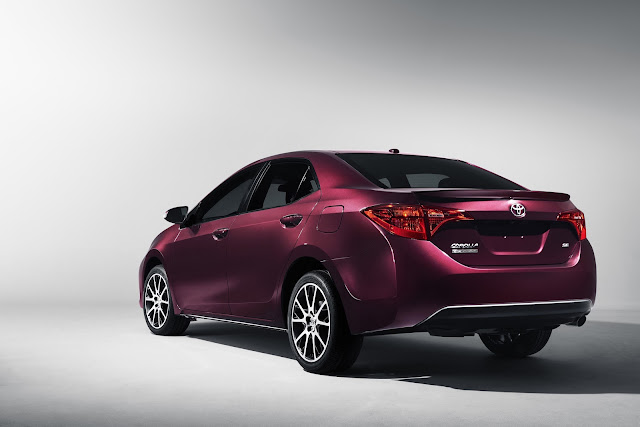 Rear 3/4 view of 2017 Toyota Corolla 50th Anniversary Special Edition