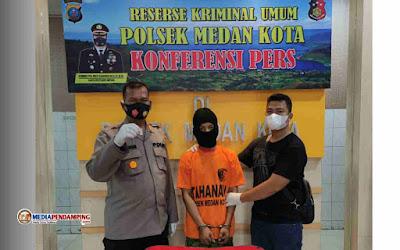 Seorang Warga Bromo Inisial DN Diringkus Tim Tekab Polsek Medan Kota, Kantongi Sabu Seberat 0.17 Gr