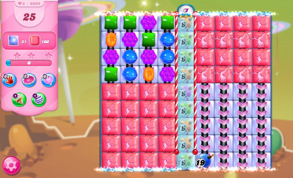 Candy Crush Saga level 6939
