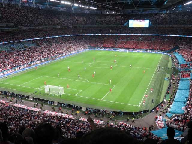 England v Denmark: Photo by Ross Clegg