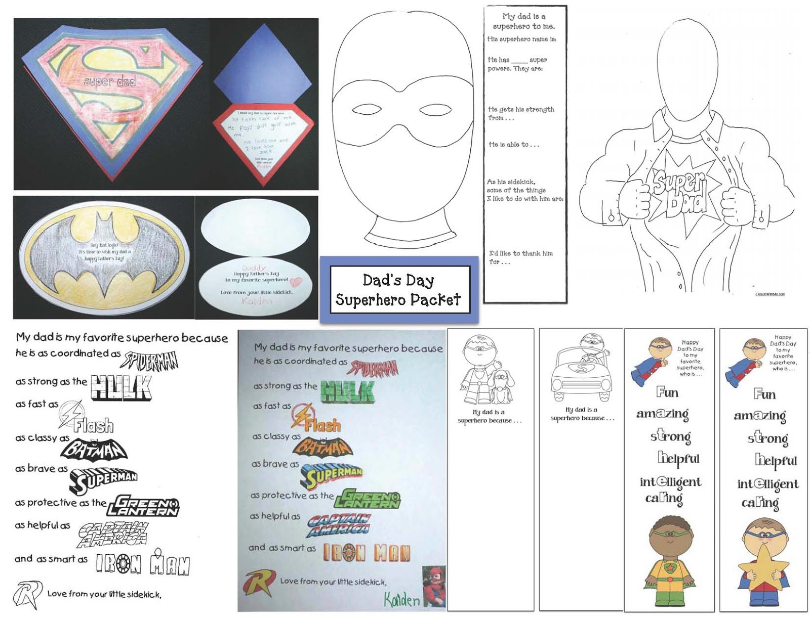 Classroom Freebies Father S Day Superhero Packet