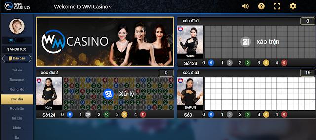 bàn chơi xóc đĩa online wm casino