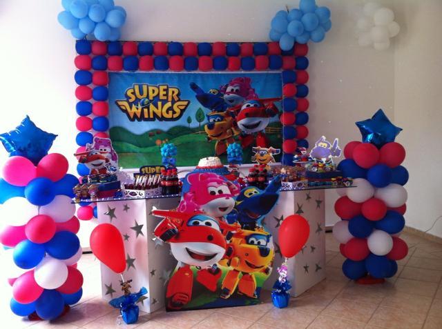 Festa Super Wings  Dicas e Inspirações  Diário das Mamães