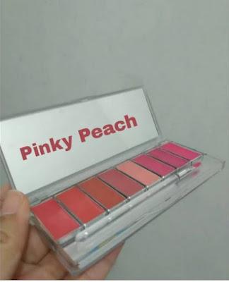 Wardah pinky peach lip palette