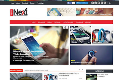 Tech-Next Blogger Template.