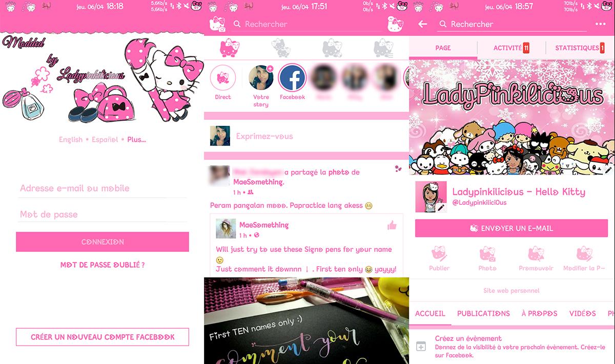 Facebook v144 0 0 0 26 MOD Black Pink Green [Latest