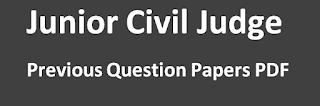 Junior Civil Judge Previous Question Papers PDF