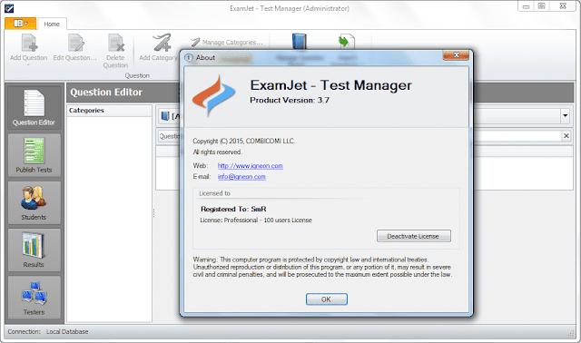 Screenshot ExamJet Quiz Maker Professional 3.7 Full Version
