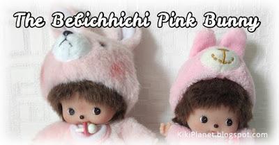 kiki Monchhichi bebichhichi bunny animal rabbit lapin pink