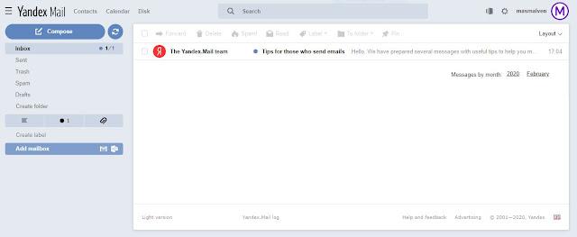 tampilan-email-di-yandex-mail