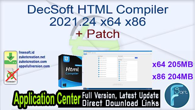 DecSoft HTML Compiler 2021.24 x64 x86 + Patch
