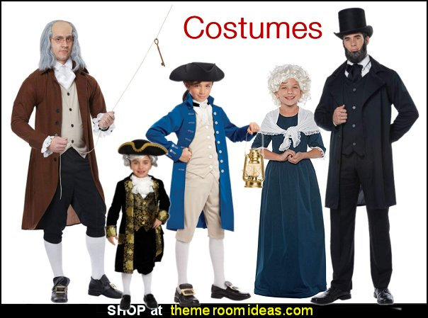 American founding fathers costumes  Colonial America Costumes