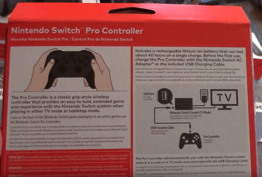 El Pro Controller de Nintendo Switch tendría 40 horas de autonomía