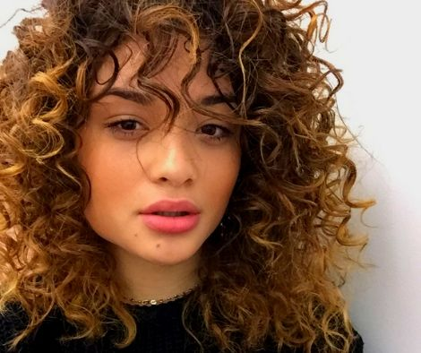 Curly Bangs -Girls With Bangs Hairstyle