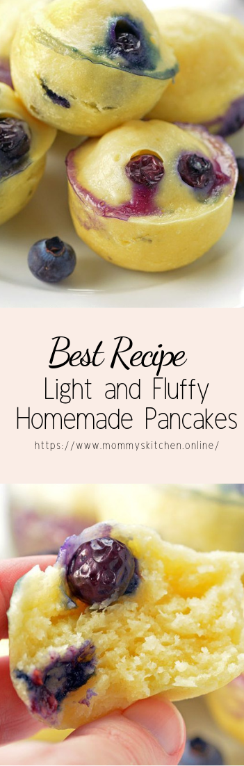Light and Fluffy Homemade Pancakes #healthyfood #dietketo