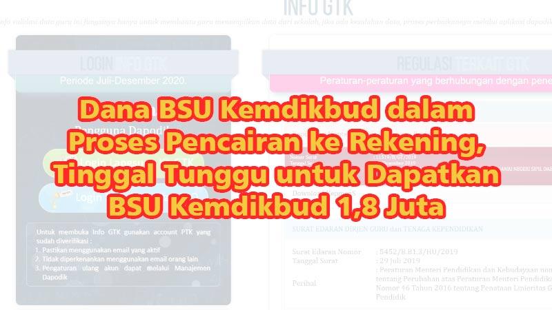 Dana BSU Kemdikbud dalam Proses Pencairan ke Rekening, Tinggal Tunggu untuk Dapatkan BSU Kemdikbud 1,8 Juta