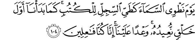 Surat Al Anbiya Ayat 104