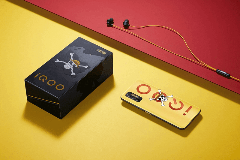 iQOO Z1 5G One Piece Special edition comes in a special box and earphones
