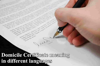 Domicile certificate meaning