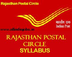 Rajasthan Postal Circle Syllabus 2017