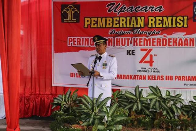 HUT RI Ke 74, Sebanyak 253 Orang Warga Binaan LP Karan Aur Dapat Remisi