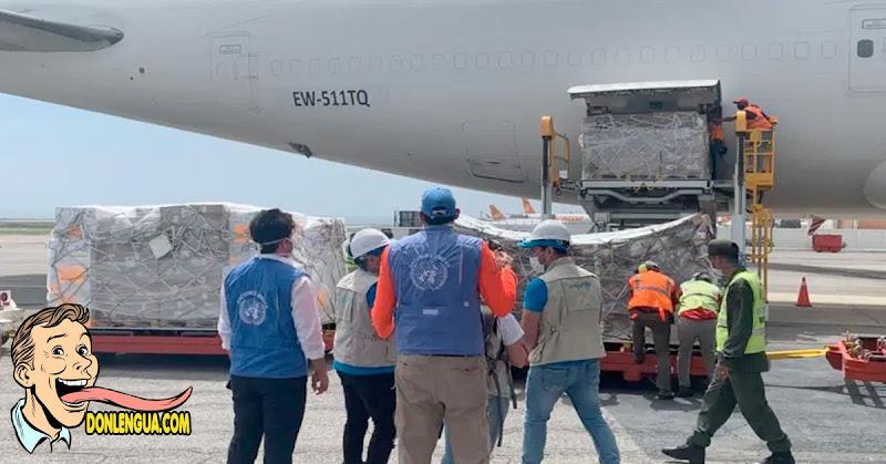 Llegan 94 toneladas de ayuda humanitaria a Venezuela por el Covid