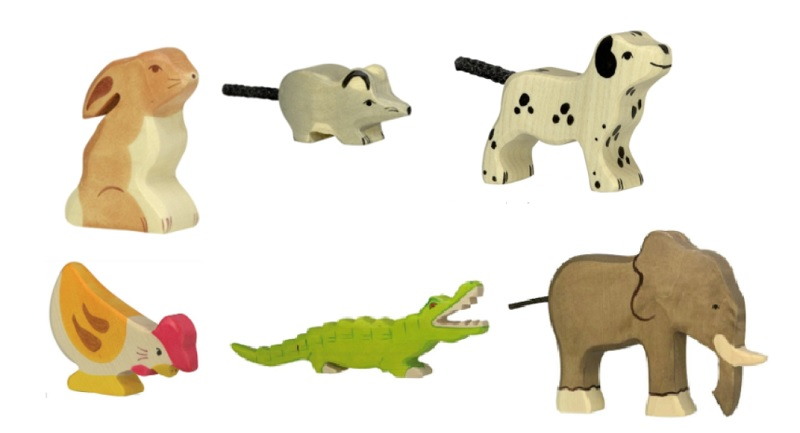 holztiger wooden animals