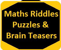 Maths Riddles Puzzles Brain Teasers