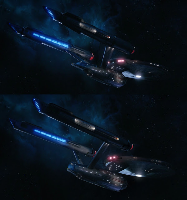 Star Trek Discovery Enterprise versus classic Matt Jefferies Enterprise design
