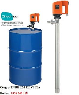 máy bơm hút thùng phuy Cheonsei