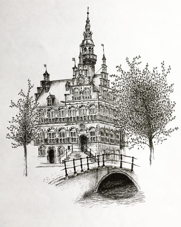 06-City-hall-Netherlands-Architectural-Drawings-Henk-Jan-www-designstack-co