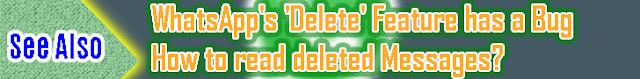 Whatsapp delete feature
